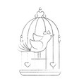 cute birdie cartoon vector image vector image