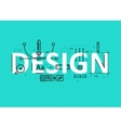 Design concept flat line design with icons and vector image