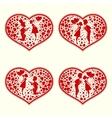 Design of heartsset vector image vector image