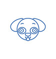 doggy emoji line icon concept doggy emoji flat vector image vector image