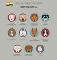 dogs by country of origin indian dog breeds vector image