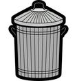 Dustbin vector image vector image