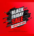 dynamic black friday sale banner on red background vector image