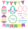 Easter elements lace pack vector image