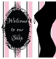 Erotic shop banner vector image vector image