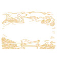 farm place for your text hay fodder in the vector image vector image