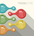 five option banner infographic vector image