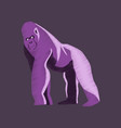 flat shading style icon gorilla vector image vector image