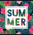 floral seamless pattern with cut text summer vector image vector image