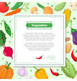fresh vegetables - modern colorful vector image