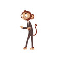 funny monkey businessman cartoon character dressed vector image
