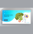 Healthy lifestyle organic food website landing