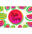 hello spring background vector image vector image