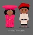 herero people in national clothes vector image vector image