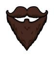 hipster beard moustache vector image vector image