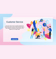 image group people customer service online store vector image