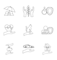 Insurance icons set outline style vector image vector image