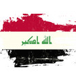 iraq scratched flag vector image vector image