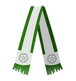 isolated green scarf vector image