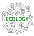 line flat circle ecology vector image