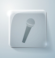 microphone Glass square icon vector image vector image