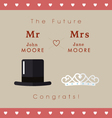 Mr and Mrs wedding card vector image vector image