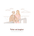 old father and adult daughter spend time together vector image vector image