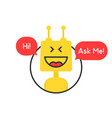 online chatbot like tech or financial advisor vector image