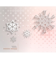 Paper snowflakes Christmas geometric background vector image