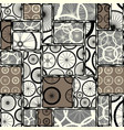 pattern of bycicles wheels vector image