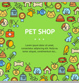 pet shop signs round design template thin line vector image vector image