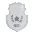 Police badge silver vector image