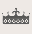 queen crown grey silhouette with sharp spires on vector image vector image