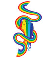 rainbow clenched fist with ribbon vector image vector image