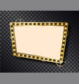 rectangular shape empty banner gold blank frame vector image