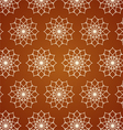 Retro Line Art and Flower Pattern on Pastel Color vector image vector image