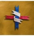 Ribbon interwoven vector image
