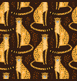 seamless pattern with cheetahs leopards repeated vector image vector image