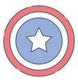 shield united state independence day related icon vector image