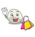 shopping character cartoon fresh mozzarella cheese vector image