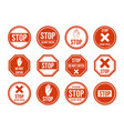 stop road sign traffic road stop symbol vector image
