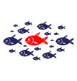 target audience red fish concept vector image vector image