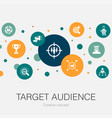 target audience trendy circle template with simple