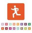 The man running icon Run symbol Flat vector image