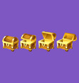 treasure chest for animation vector image vector image