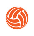 volleyball background sign vector image vector image