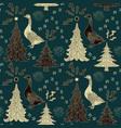 winter holidays pattern vector image
