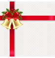 xmas golden banner with golden bells and vector image vector image