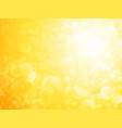 yellow sun bokeh shining background vector image vector image