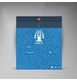 flat UI design trend interface vector image